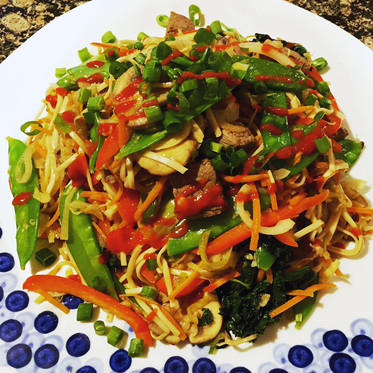 using the wok: stir-fried beef lo mein at home