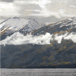 SOLD - Triptych - Hector Mountains 2