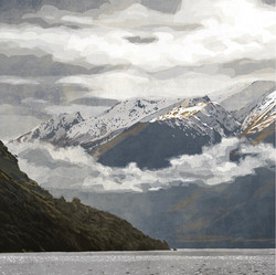 SOLD - Triptych - Hector Mountains 1
