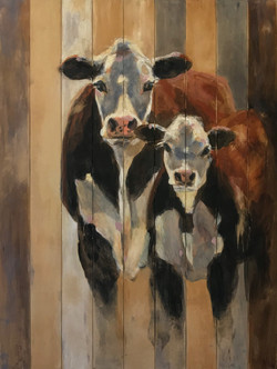 SOLD - Hereford Cow and Calf