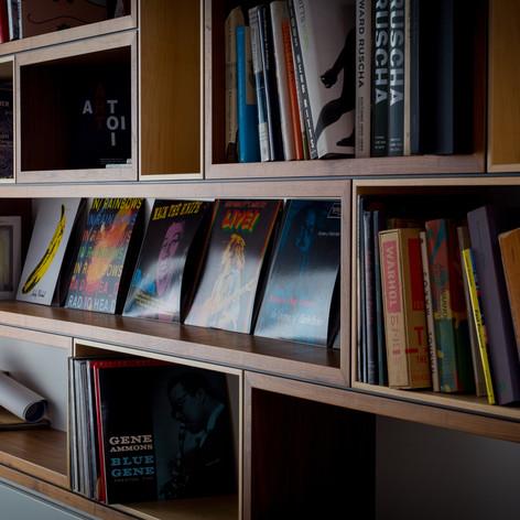 Walnut Custom Bookshelves