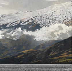 SOLD - Triptych - Hector Mountains 3