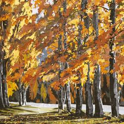 SOLD - Autumn Tree Line, Lake Wanaka