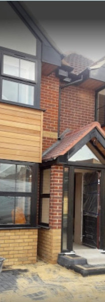 Double storey side extension and porch