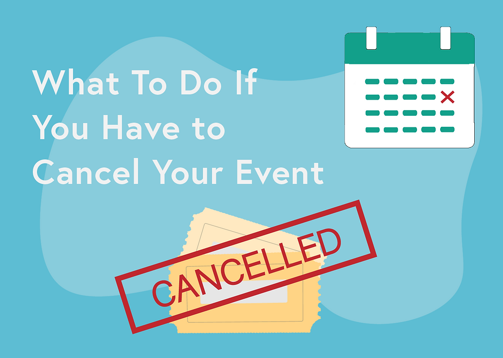 What to do if you have to cancel your wedding event
