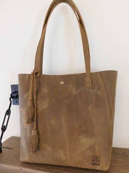 Everyday Tote - Stone Oiled Tan