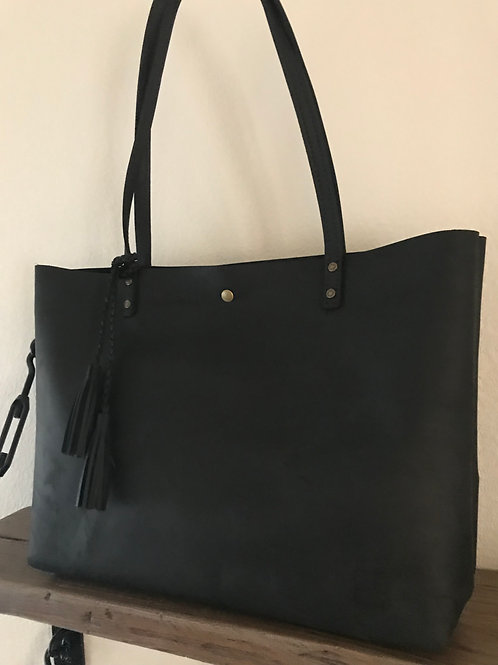 XL Everyday Tote - Stone Oiled Black