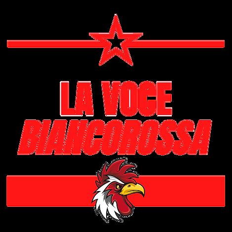 la voce biancorossa (logo in trasparenza