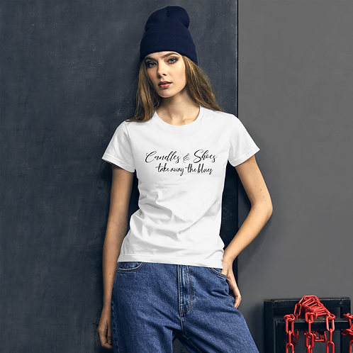 Candles and Shoes Ladies Fit Tee Shirt