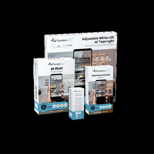 Bundle Pack: TandemLED + WAV Technology - Adjustable White Lighting Kit
