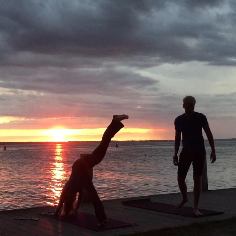 Private Sunrise Yoga :)