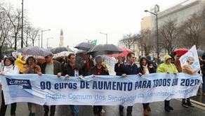 Exigimos 90 euros de aumentos salariais