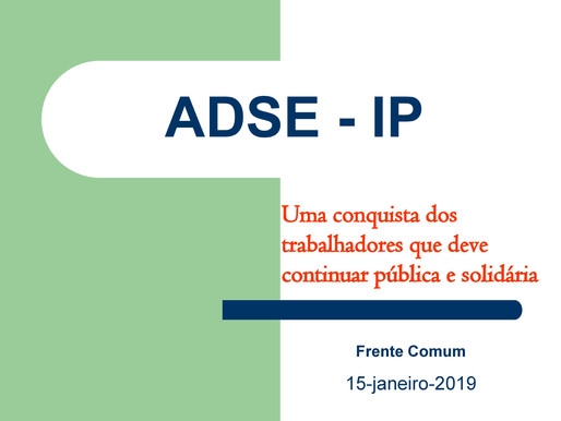 ADSE - IP