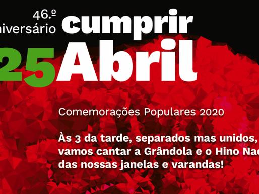 Cumprir Abril - comemorações do 25 de Abril