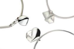 Silver Curl Pendants
