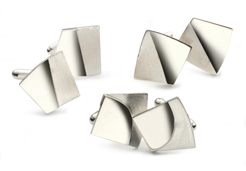 Silver Double Effect Cufflinks