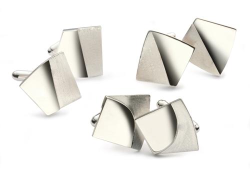 Silver Double Effect Cufflinks