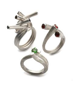 Silver Tube Rings