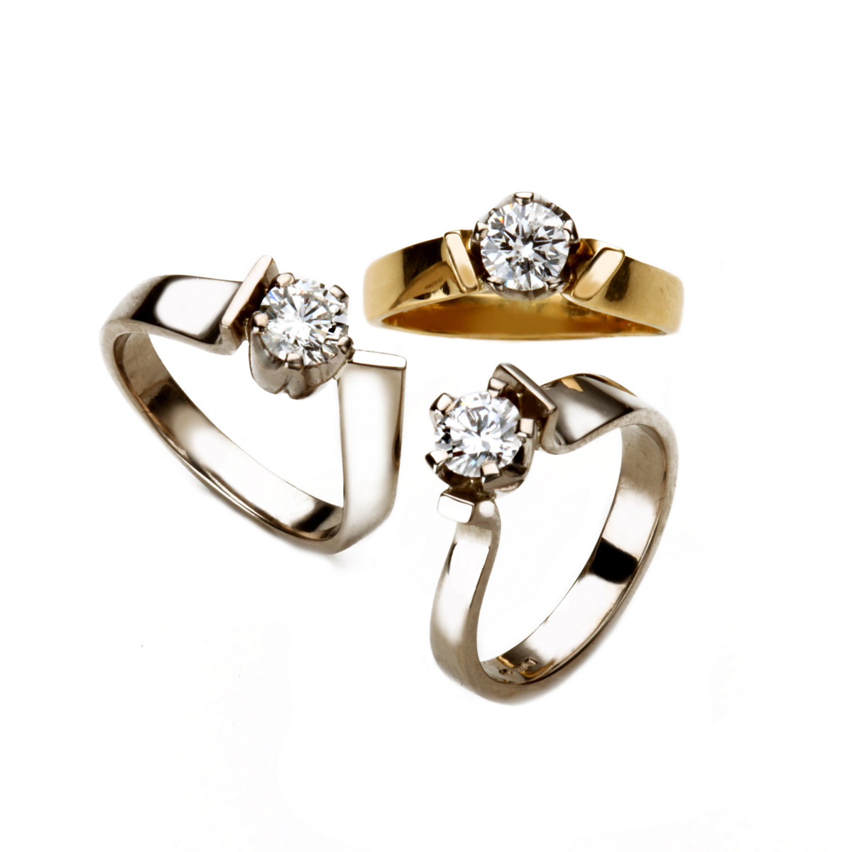 18ct White and Yellow Gold