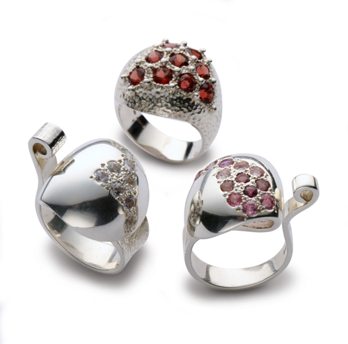 Silver Dome Rings
