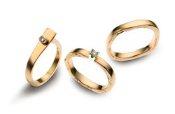 9ct Gold Rings with Diamonds