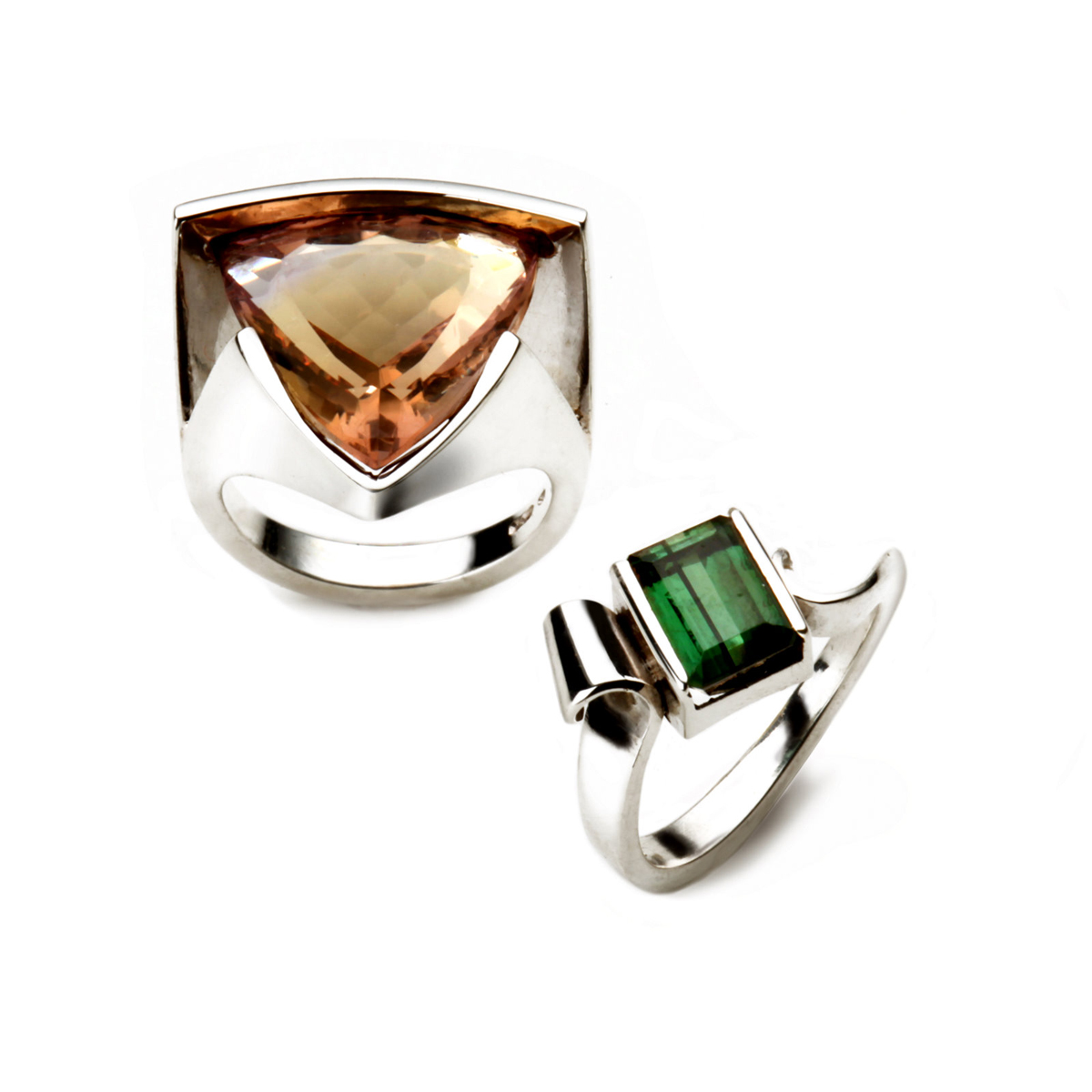 Silver Rings with Large Stones