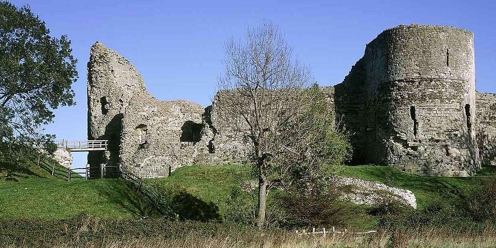 Pevensey Bay and Pevensey Castle