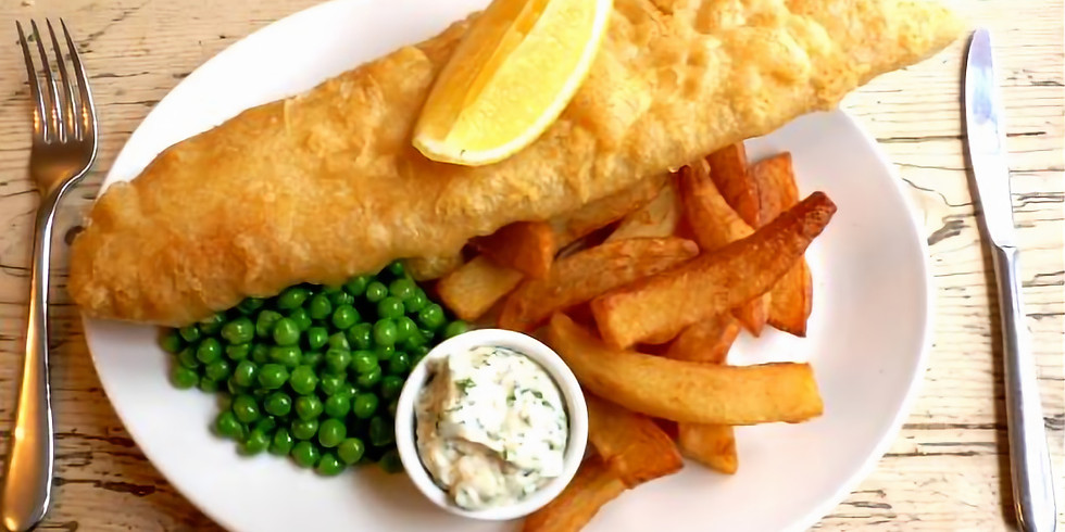 Fish 'n' Chips at the Flora Tea Rooms in Saxmundham