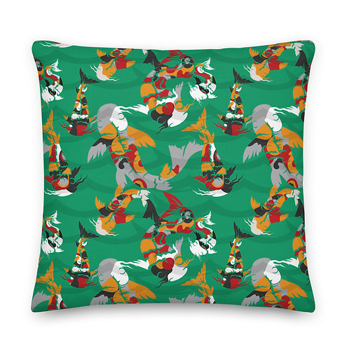 Emerald Koi - Premium Pillow