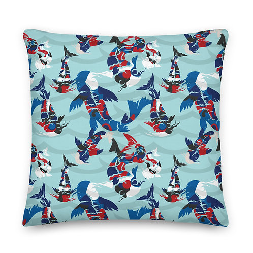 Azul Koi - Premium Pillow