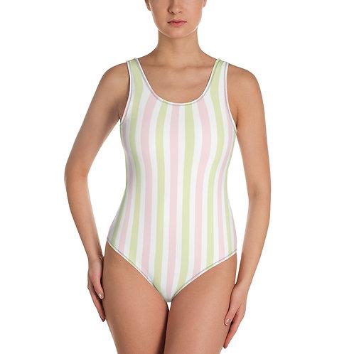Sweet Princess Stripes - One-Piece Swimsuit