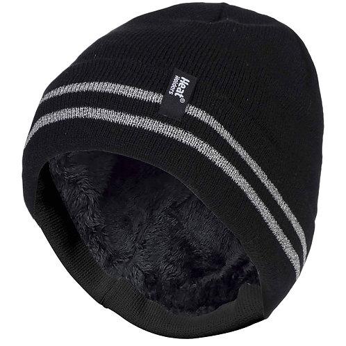 Mens Hi-Visibility Reflective Thermal Beanie Hat