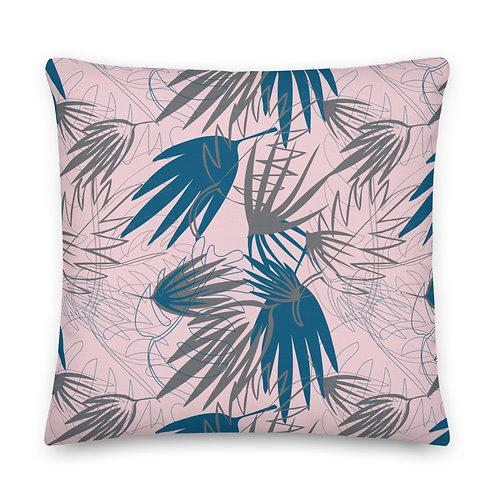 Pink & Teal Palms - Premium Pillow