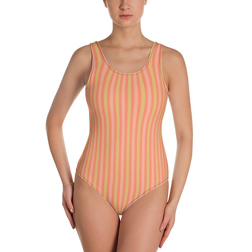 Sweet Vibes Stripes - One-Piece Swimsuit