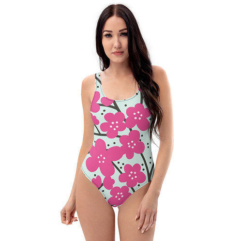 Pink Blooms - One-Piece Swimsuit