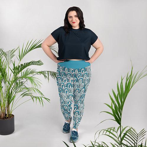 Turquoise Arches Ladies Plus Size Leggings