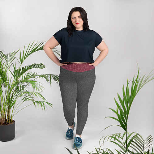 Charcoal Ladies Plus Size Leggings