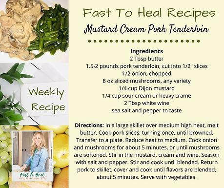 Mustard Cream Pork Tenderloin