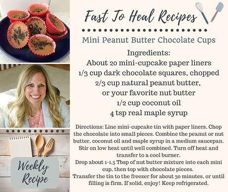 Mini Peanut Butter Chocolate Cups