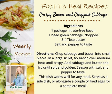 Crispy Bacon and Chopped Cabbage