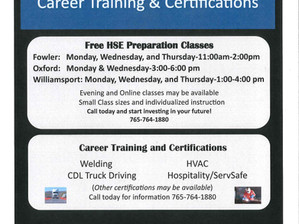 Free HSE/GED Classes