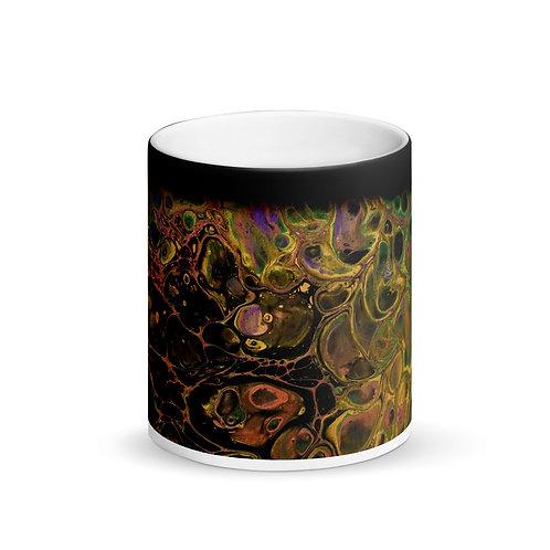 """""""Molten Metals"""" Flow Art Matte Black Magic Mug"""