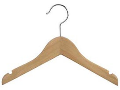 "11"" NATURAL KIDS WOOD HANGER"