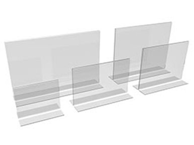 ACRYLIC INVERTED-T FRAMES- LANDSCAPE (VARIOUS SIZES)