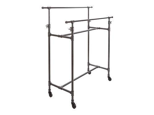 HEIGHT ADJUSTABLE DOUBLE PIPE RACK