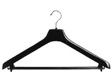 "16"" BLACK SUIT HANGER"