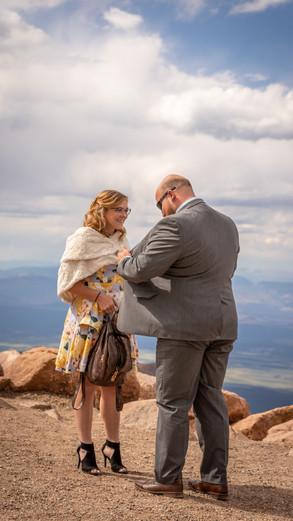 Delaney + David Engagement Session at Summit of Pikes Peak