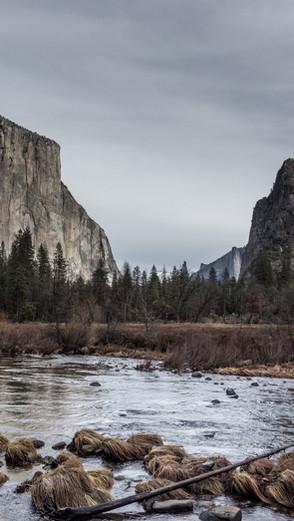 Camping at Yosemite during winter of 2018