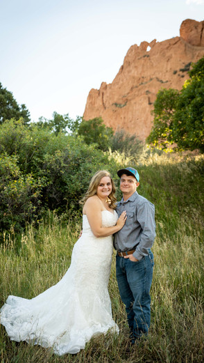 Audrey + Eric elopement session at Garden of The Gods   Colorado
