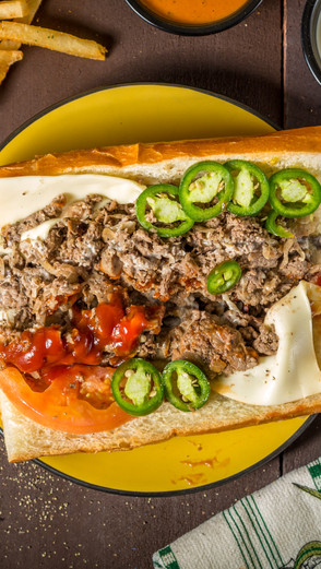 Food Photography for Philly's Cheesesteaks & Wings